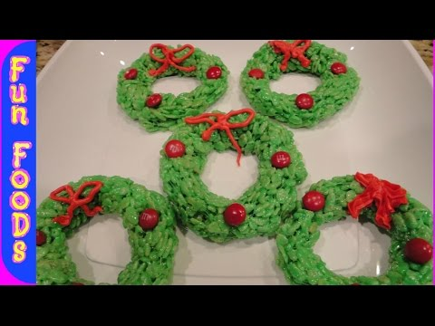 Rice Krispie Christmas Wreaths | Easy Christmas Recipes To Make With Kids