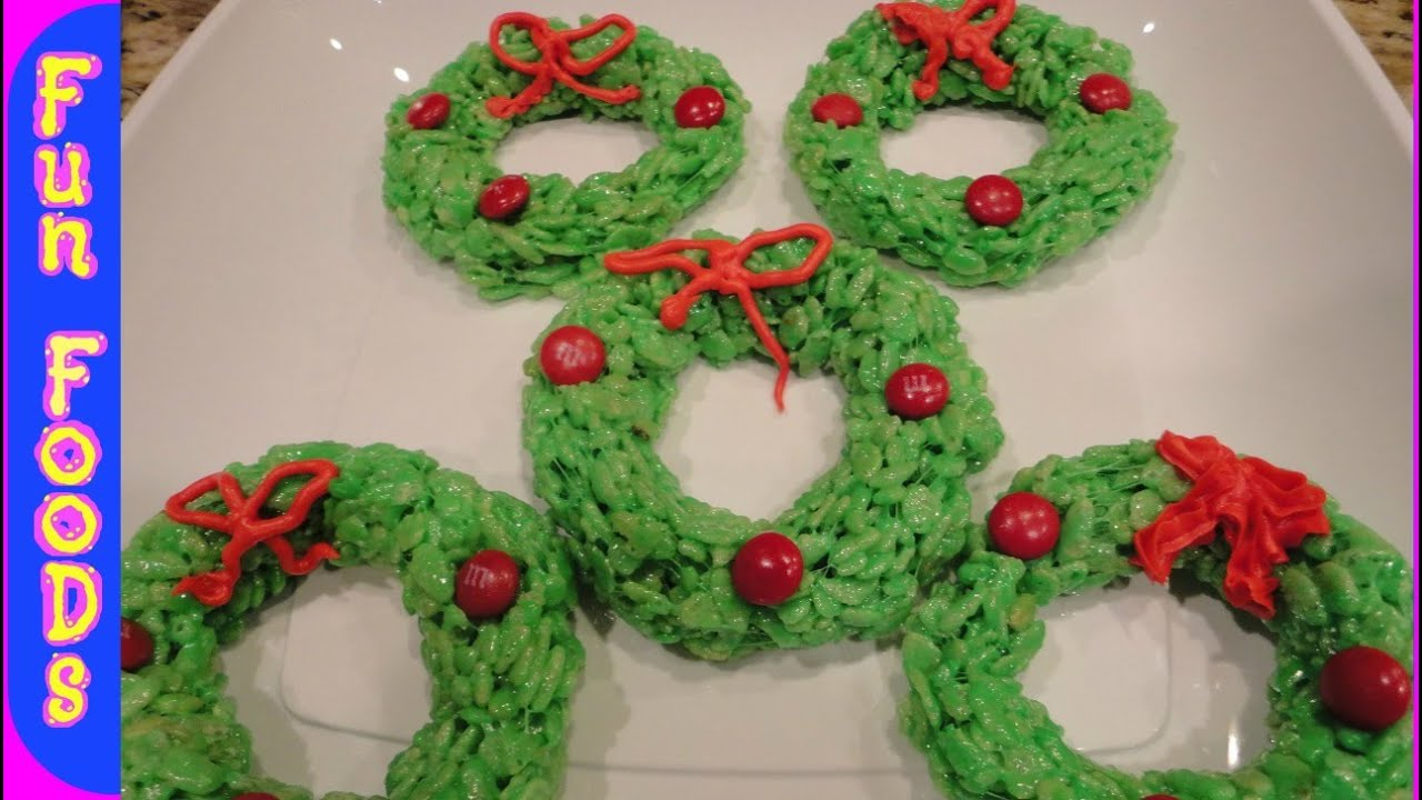 rice krispie christmas wreaths easy christmas recipes to make with kids - Rice Crispy Treats For Christmas