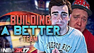 NBA 2K17 MY LEAGUE: BUILDING A BETTER TEAM VS KRISPYFLAKES!!!