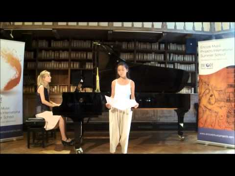 Bernstein:Somewhere:Sanahin Papazian@EncoreMusicProjectsInternationalSummerSchool 2015
