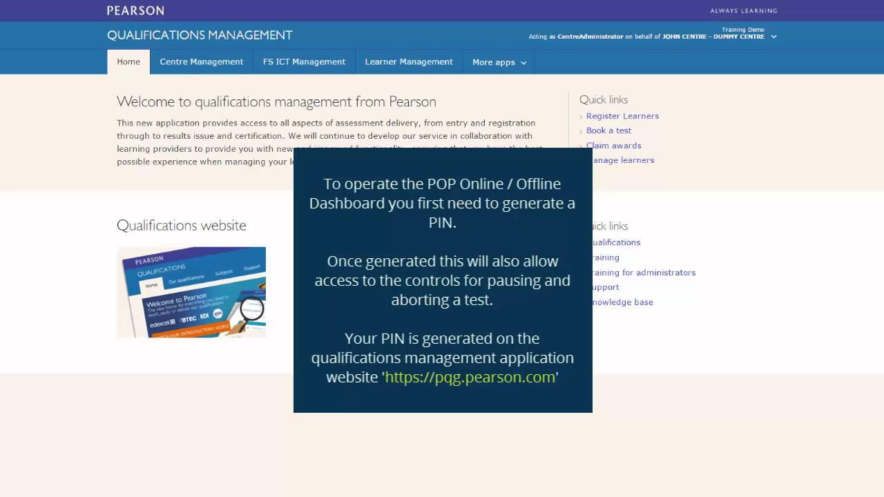 Qualifications Management's Pearson Onscreen Platform (POP