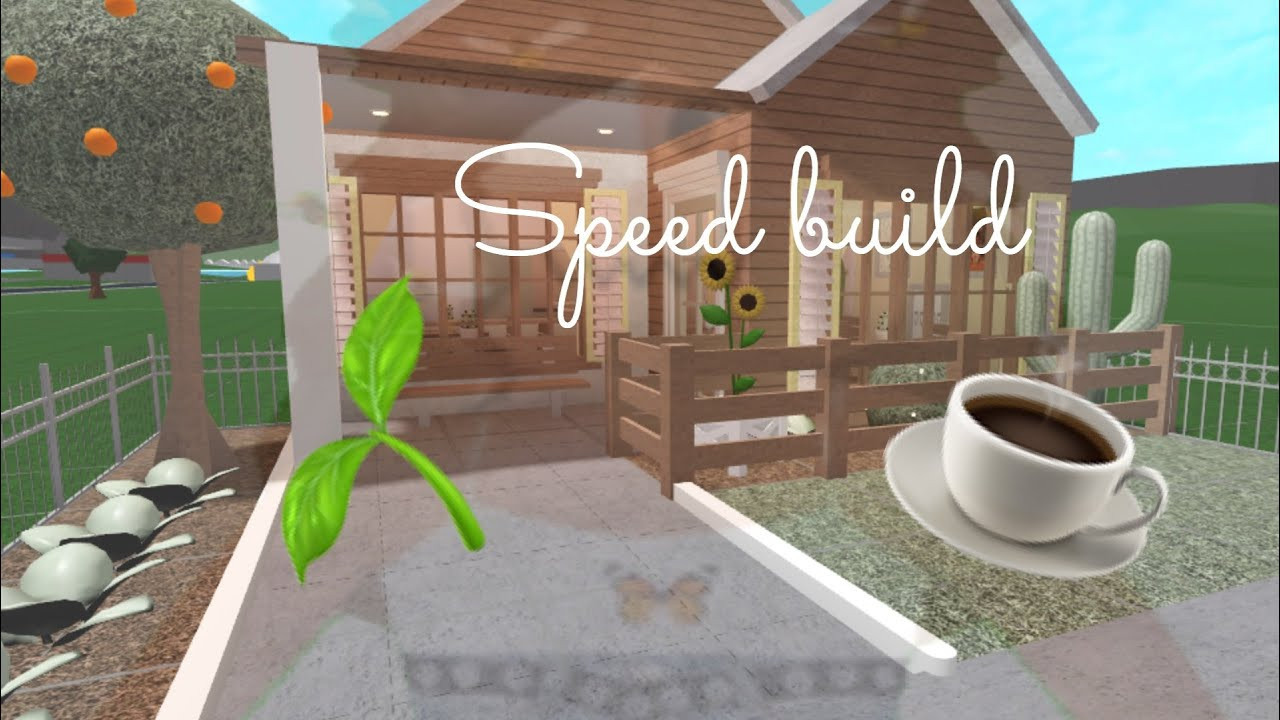 Bloxburg    Cute Cafe    20k    speed build    no ...