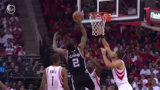 Kawhi Leonard Dunks Over Capela! | Spurs vs Rockets | May 6, 2017 NBA Playoff 2017