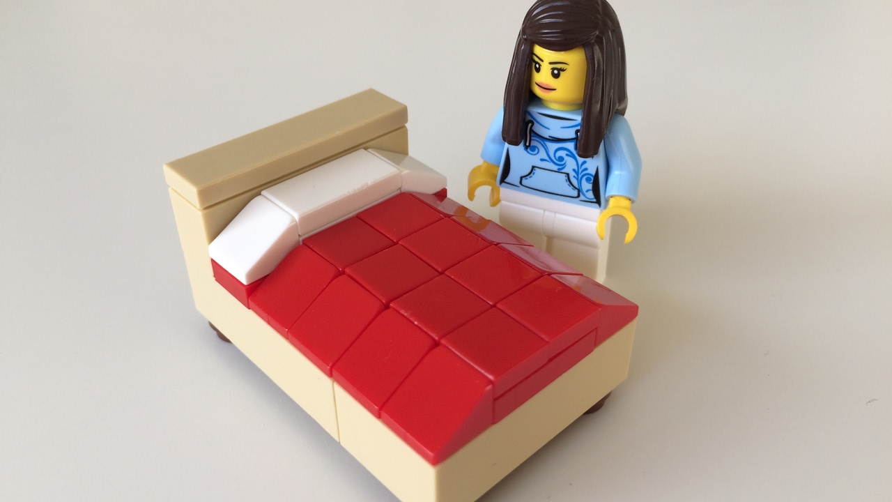 How To Build A Lego Bed Lego Speed Build Youtube