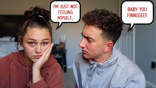 BEING INSECURE TO SEE HOW MY BOYFRIEND REACTS!! *CUTE REACTION*