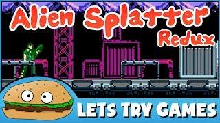 ALIEN SPLATTER REDUX 👾 8 Bits Of Awesome 🍔 Lets Try Games 🍔