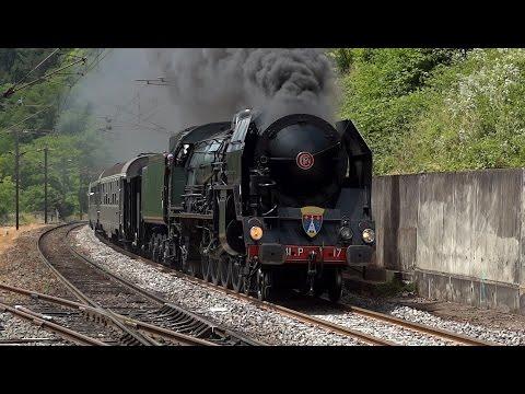 Steam locomotive 241P17 in eastern France