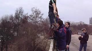 Прыжок Андрея с моста 15.04.2012
