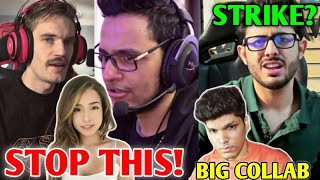 YouTubers Want YOU To STOP THIS (Triggered Insaan, PewDiePie, Pokimane) | CarryMinati Gave STRIKE? |