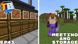 Mob Farm Storage And Emergency Meeting - Truly Bedrock Season 2 Minecraft SMP Episode 41