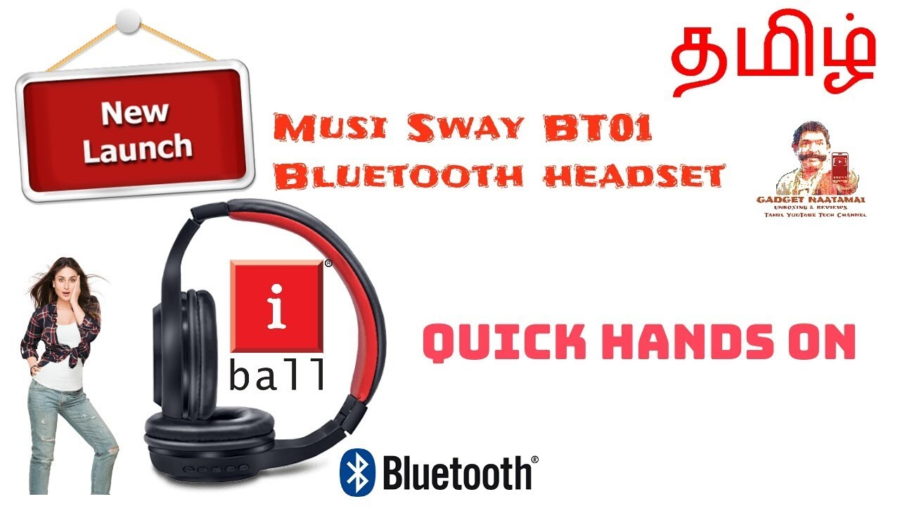 745e8b26188 iBall Musi Sway BT01 Bluetooth headset - Hands on By Gadget Naatamai in  Tamil