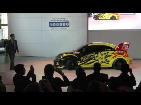 Volkswagen attends the 2014 Chicago Auto Show and introduces their GRC Beetle