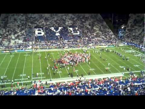 UTAH V BYU END OF GAME FROM THE RADIO BOOTH