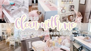 2020 CLEAN WITH ME//EASTER DECORATE WITH ME//CLEANING MOTIVATION//SPEED CLEANING
