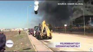 Felrobbant egy üzemanyagtartály