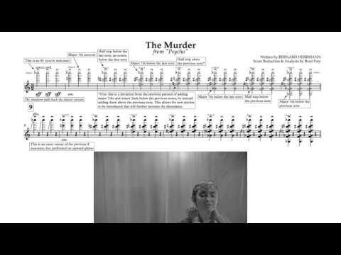 """[3/5] """"Shower Scene"""" - Psycho (Score Reduction & Analysis)"""