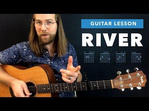 "🎸 ""River"" Ed Sheeran / Eminem guitar lesson (chords and tabs)"