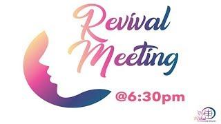 19th January 2019  Revival Meeting 2019  Message by: Sis. Padma Mudaliar