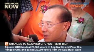 """Changes to Aljunied GRC """"not very big"""" (George Yeo walkabout Pt 1)"""
