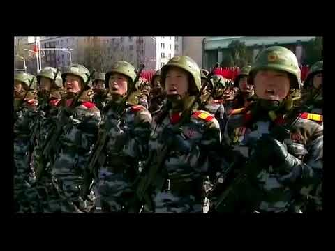 North Korea Military Parade 70th Anniversary of the Korean People's Army Founding 1948  2018
