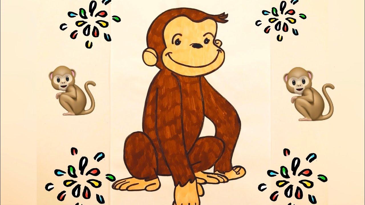 Scimmia George Disegno Da Colorare Per Bambini Afa Youtube