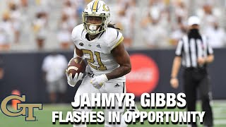 Georgia Tech RB Jahmyr Gibbs Flashes In Opportunity