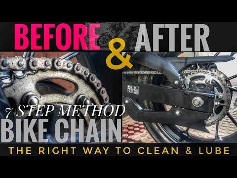 How to Clean and Lube Motorcycle Chain | Bike diy - Yamaha Fz25