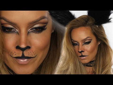 Glamour-Puss Halloween Makeup Tutorial-Cat MakeUp