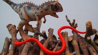 ЛОГОВО ЗМЕЙ И КАРНОТАВР! Мультики про динозавров и животных. Для детей