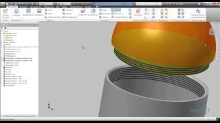 Создание сборки на основе тел из детали в Inventor