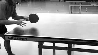 Table tennis flick slow motion