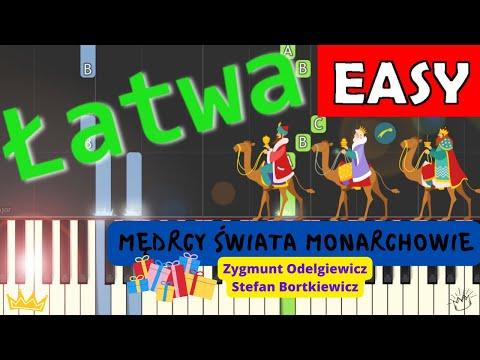 🎹 Mędrcy świata - Piano Tutorial (łatwa wersja) 🎹