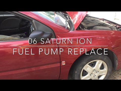 06 Saturn Ion – Fuel Pump replace