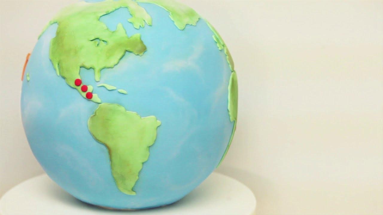 Tutorial #5: 3d world cake | travel shower | cake, cake decorating.