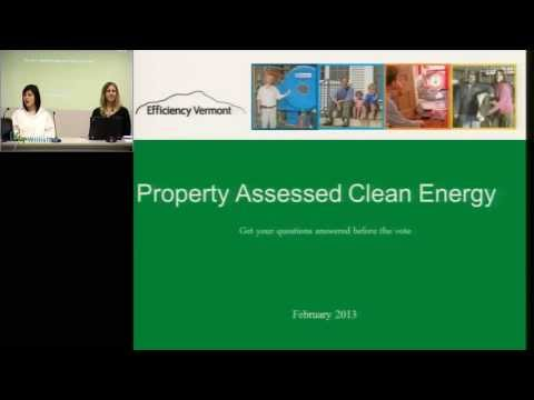 Property Assessed Clean Energy Question and Answer Session