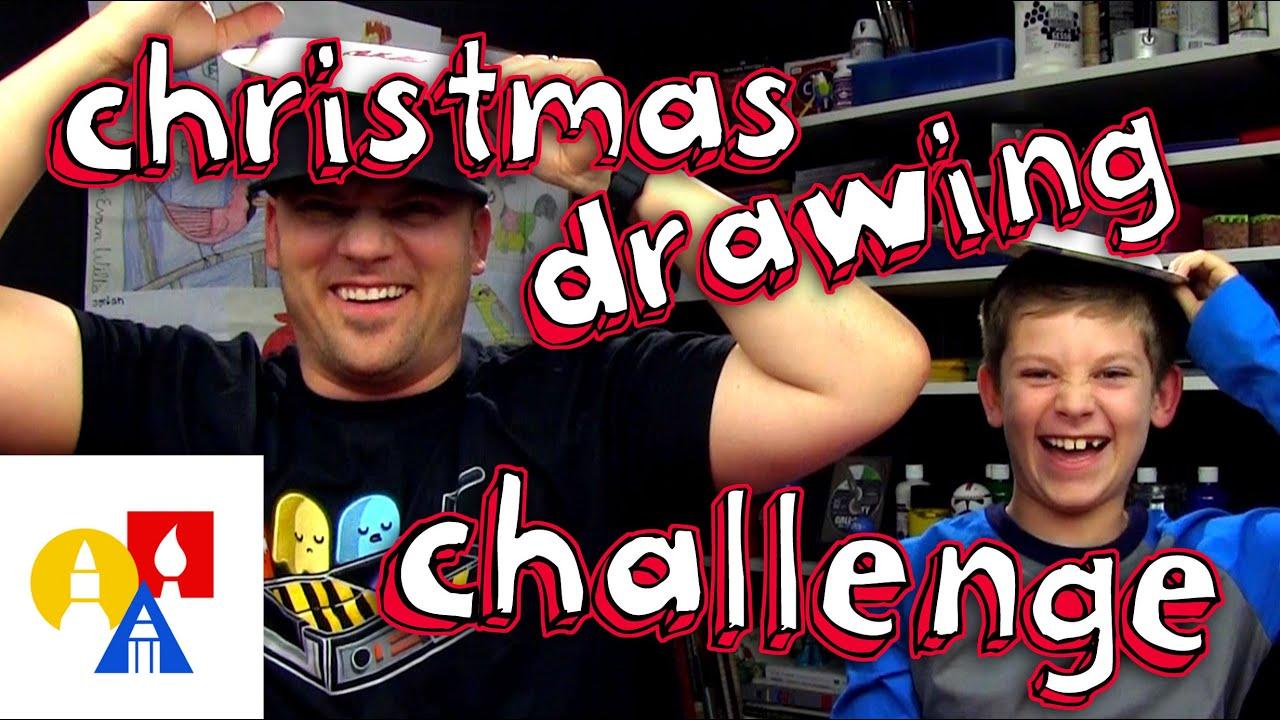 Christmas Drawing Challenge! - YouTube