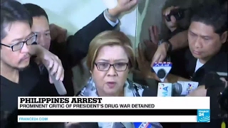 Philippines: Senator criticizing Duterte detained on drug charges