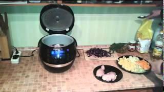 Рецепты для мультиварки   густой овощной суп с курицей в мультиварке