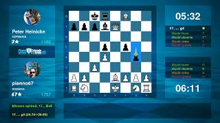 Chess Game Analysis: pianno67 - Peter Heinicke : 1-0 (By ChessFriends.com)