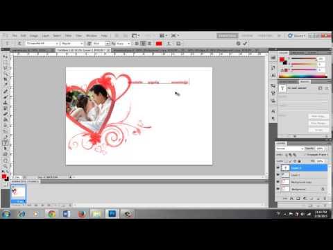 การ์ดแต่งงาน ด้วยโปรแกรม PhotoShop CS5 ง่ายๆ