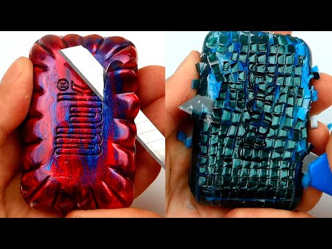 Relaxing Soap Carving. ASMR. Satisfying Soap Cutting-54