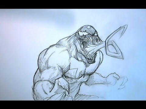 How To Draw Venom - YouTube