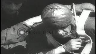 Examples of parachute use  in first half of 20th Century HD Stock Footage