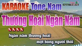 Thương Hoài Ngàn Năm Karaoke | Tone Nam - Nhạc Sống Thanh Ngân