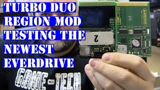 Turbo Duo region mod test with newest Turbo EverDrive - TG16 Pc Engine