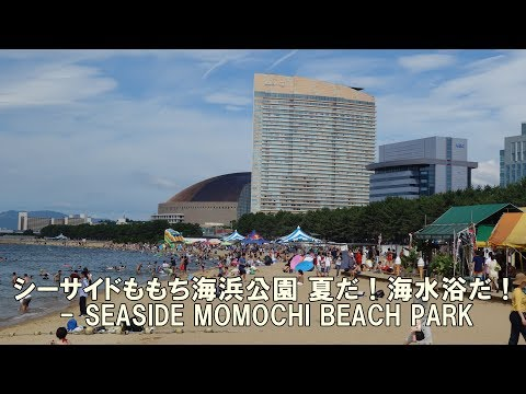 SEASIDE MOMOCHI BEACH PARK - シーサイドももち海浜公園 夏だ!海水浴だ!
