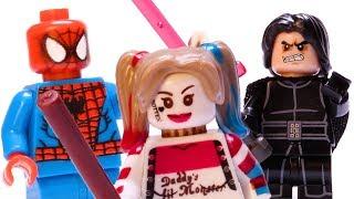 LEGO Star Wars STOP MOTION Kylo Ren vs Spiderman vs Gandalf vs Harry Potter | By LEGO Worlds