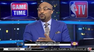 NBA Gametime Crew react to Lakers Fall to Magic 119-118; LeBron: 19 Pts; Quinn Cook: 22 Pts