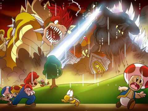 New Super Mario Bros Wii Final boss Phase 2 Remix (Original And YoshiDude12 mash up -1 Octave)