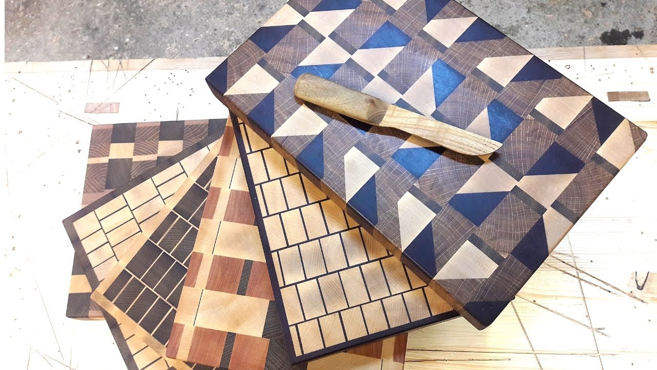 4 Unique Endgrain Cutting Boards Youtube